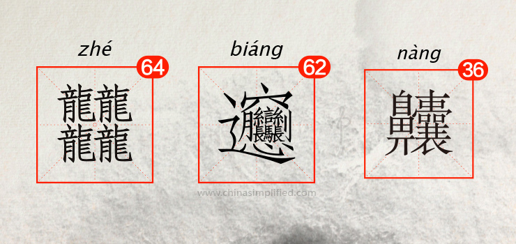 China Simplified: The most complicated Chinese character