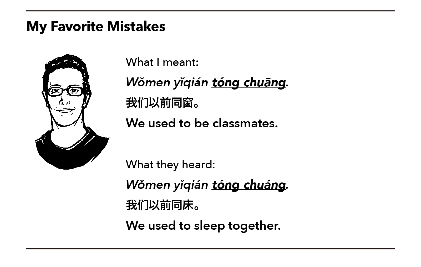 China Simplified: Chinese language mistake